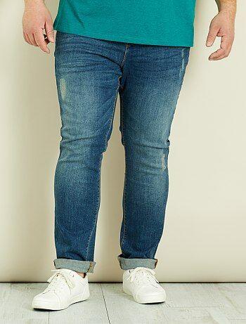 Pantaloni chino slim denim - Kiabi
