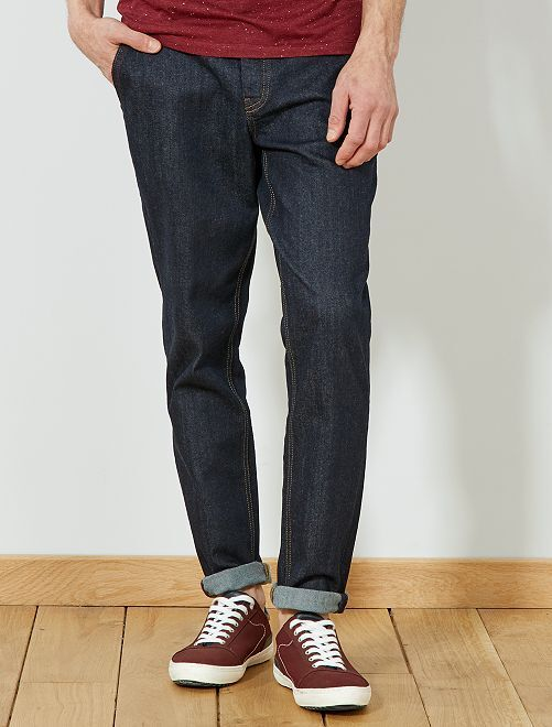 Pantaloni chino slim denim                             BLU Uomo