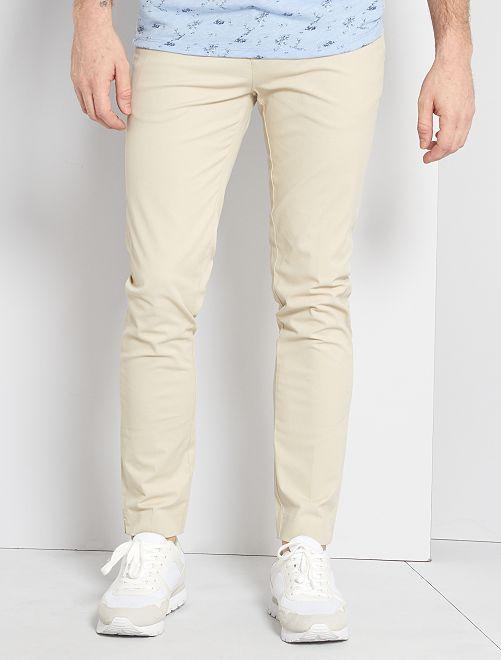 Pantaloni chino slim                                                                 ecru