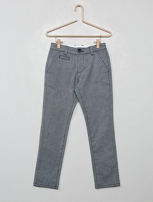 Pantaloni chino slim fit con micro-motivi                                         blu