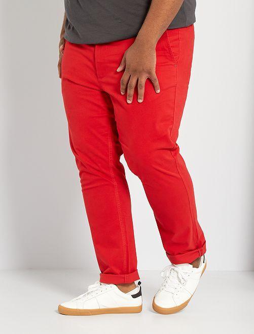Pantaloni chino slim L30                                                                                                     rosso pompiere