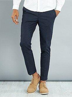 Pantaloni chino - Pantaloni chino slim puro cotone