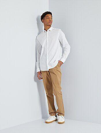 Taglie forti Uomo - Pantaloni chino slim puro cotone L36 + 1 m 90 - Kiabi