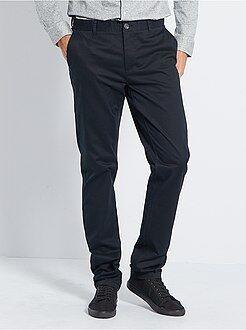 Uomini alti più di 190cm - Pantaloni chino slim puro cotone L36 + 1 m 90 - Kiabi