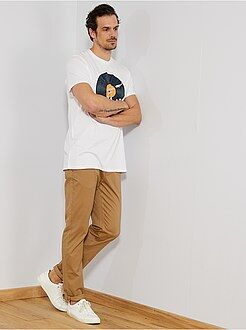 Uomini alti più di 190cm - Pantaloni chino slim puro cotone L38 + 1 m 90 - Kiabi