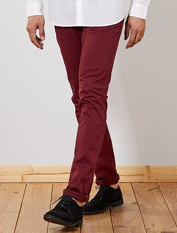 Pantaloni chino slim puro cotone L38 + 1 m 90 - Kiabi