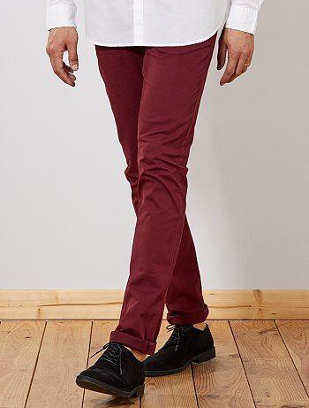 Taglie forti Uomo - Pantaloni chino slim puro cotone L38 + 1 m 90 - Kiabi