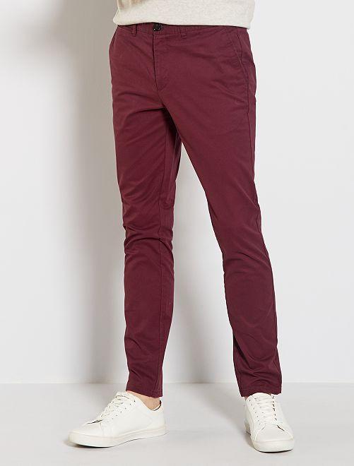 Pantaloni chino slim                                                                 rosso