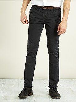 Uomo dalla S alla XXL Pantaloni chino stretch lunghezza US 32