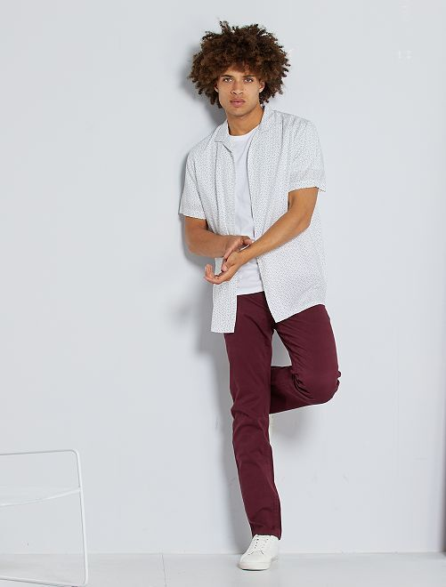 Pantaloni chino stretch                                                                                                                 rosso