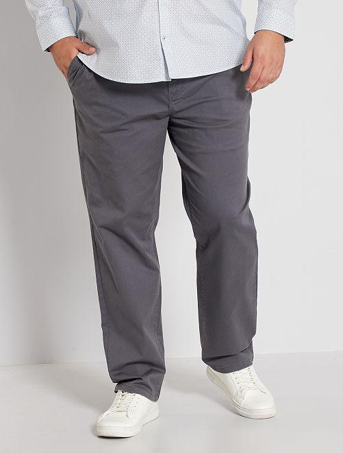 Pantaloni chino taglio regular L30                                                                             GRIGIO