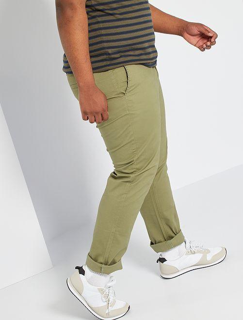 Pantaloni chino taglio regular L32                                                                             verde licheno