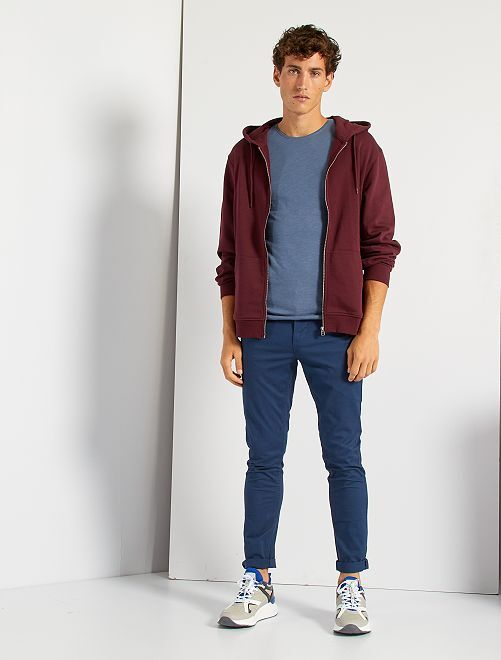 Pantaloni chino taglio slim                                                                                                                                                                                                                                                                                                                 blu