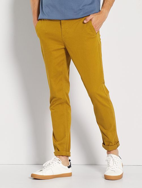 Pantaloni chino taglio slim                                                                                                                                                                                                                                                                                         GIALLO