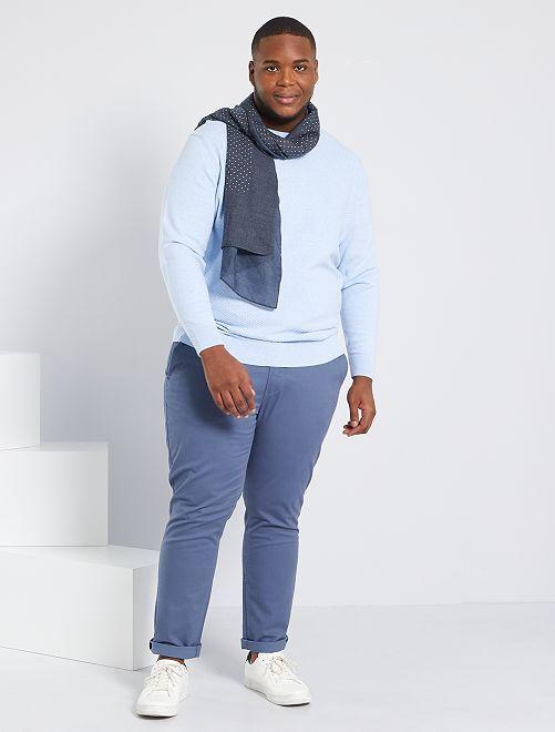 Pantaloni chino taglio slim L34                                                                             BLU