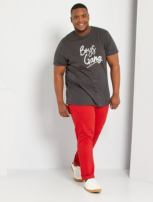 Pantaloni chino taglio slim L34                                                                             rosso pompiere
