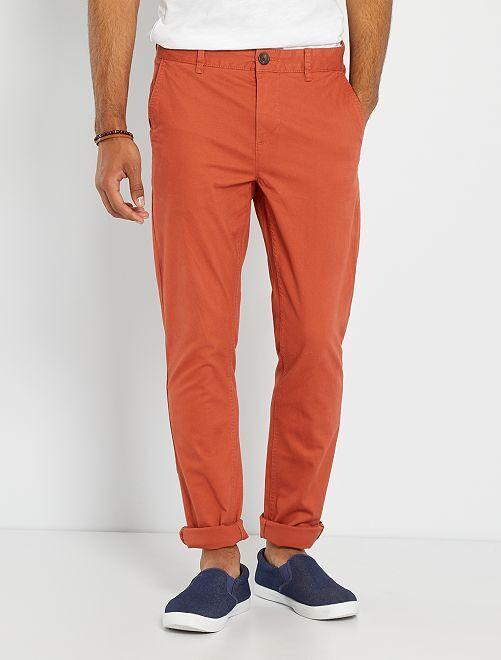 Pantaloni chino taglio slim                                                                                                                                                                                                                                                                                                                 rosso mattone