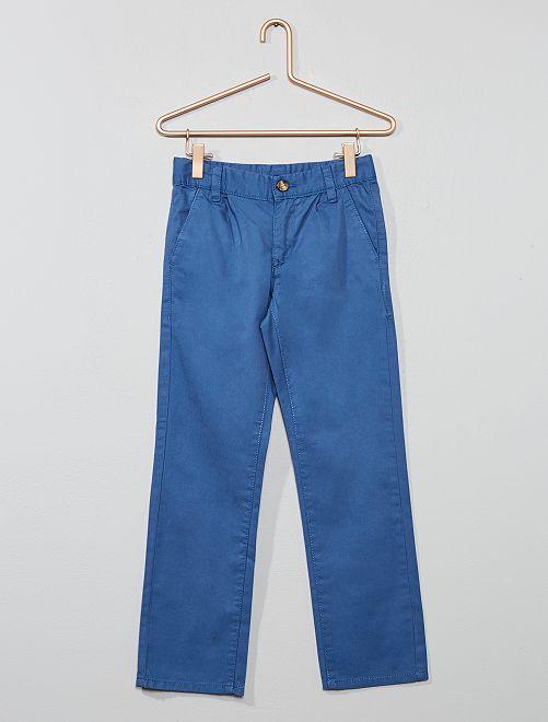 Pantaloni chino tinta unita                                             blu scuro Infanzia bambino