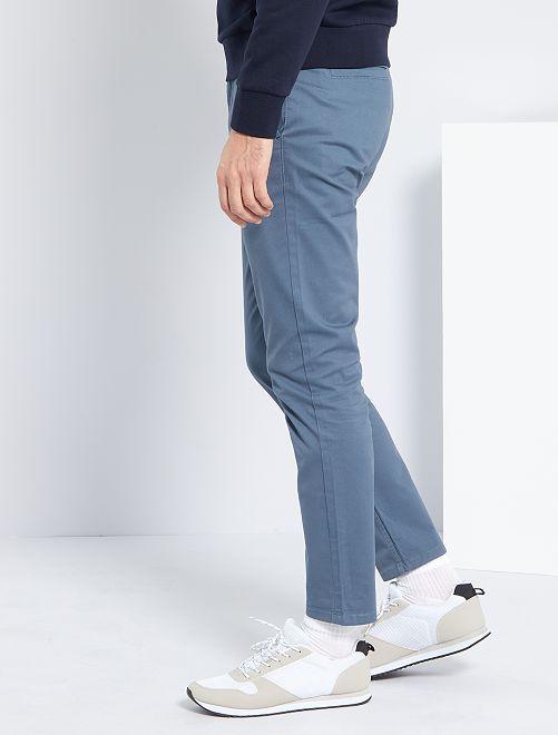 Pantaloni chino twill cotone stretch                                                                                                                                                                                                                                                                             BLU