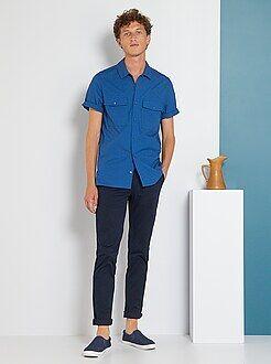Pantaloni slim - Pantaloni chino twill cotone stretch