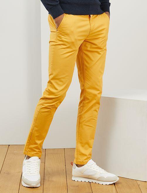 Pantaloni chino twill cotone stretch                                                                                                                                                                                                                                                                             GIALLO
