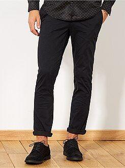 Pantaloni chino - Pantaloni chino twill cotone stretch