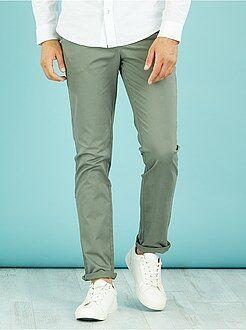 Uomo dalla S alla XXL Pantaloni chino twill cotone stretch