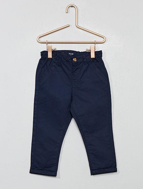 Pantaloni chino twill leggero                                                                             blu Neonato