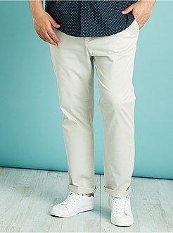 Pantaloni chino twill taglio dritto