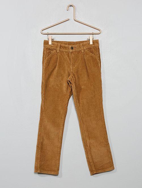Pantaloni chino velluto a coste                                         BEIGE