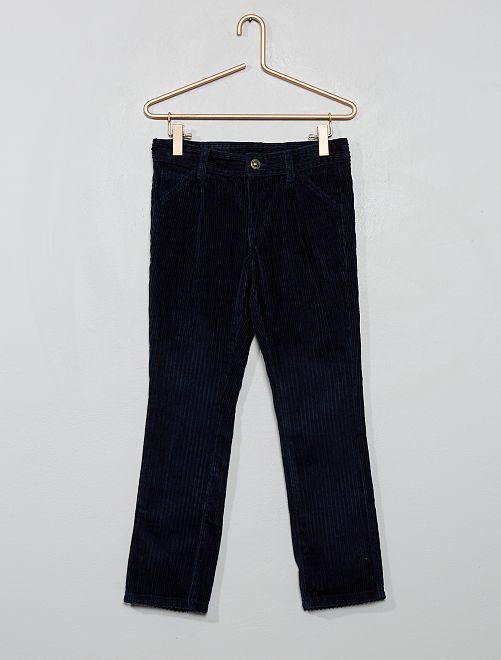 Pantaloni chino velluto a coste                                         blu