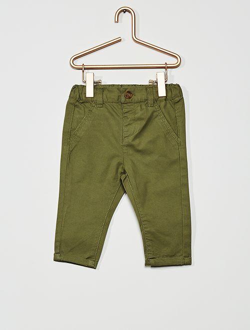 Pantaloni chino                                                                             verde licheno