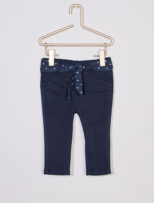 Pantaloni + cintura stampata                                                                 blu lunare