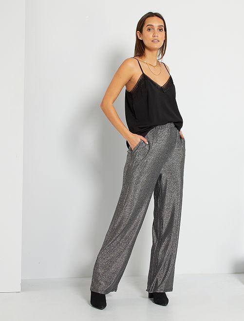 Pantaloni con paillettes 'JDY'                             argento