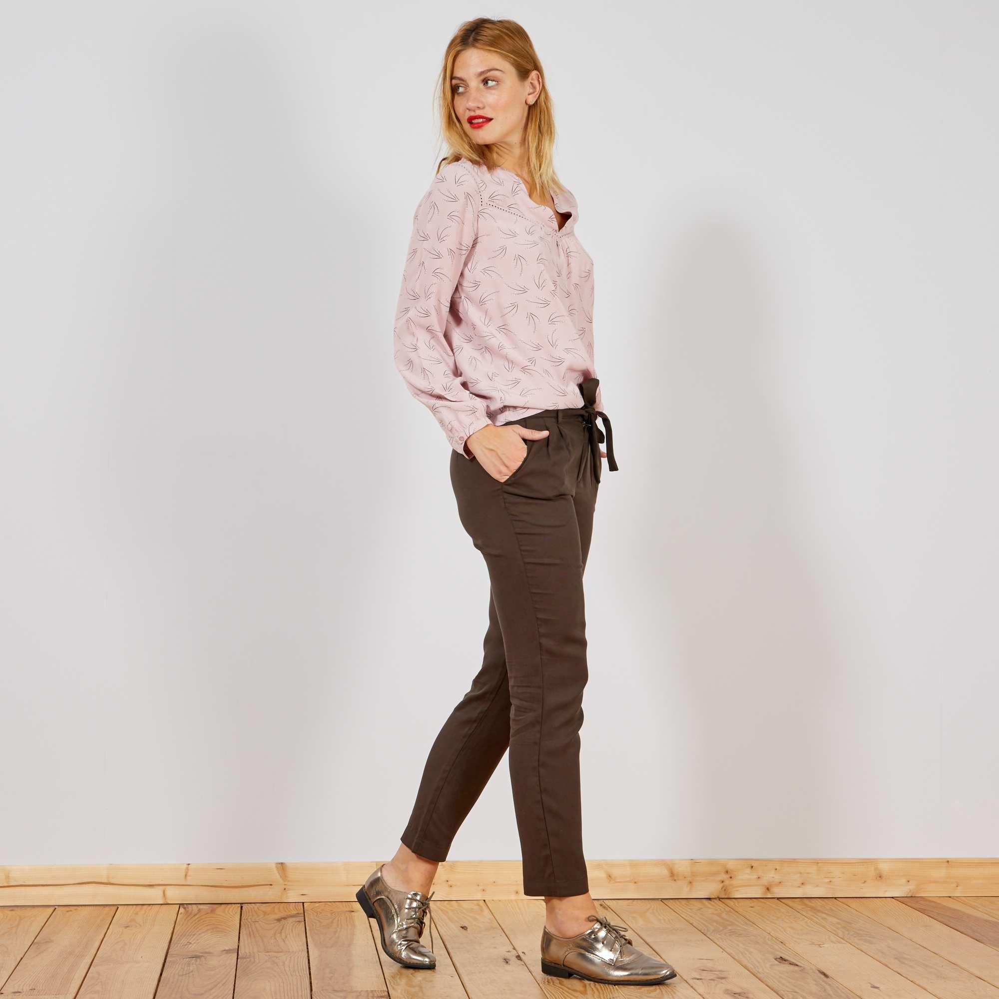 a16cc247dc Pantaloni con pince lyocell
