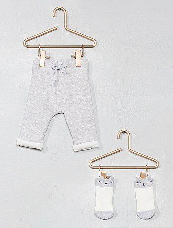 Pantaloni cotone bio + calzini - Kiabi