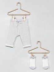Pantaloni cotone bio + calzini