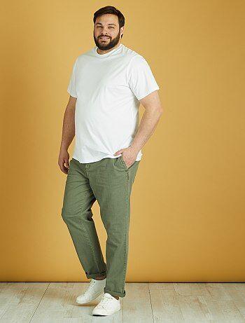 Taglie forti Uomo - Pantaloni cotone e lino - Kiabi