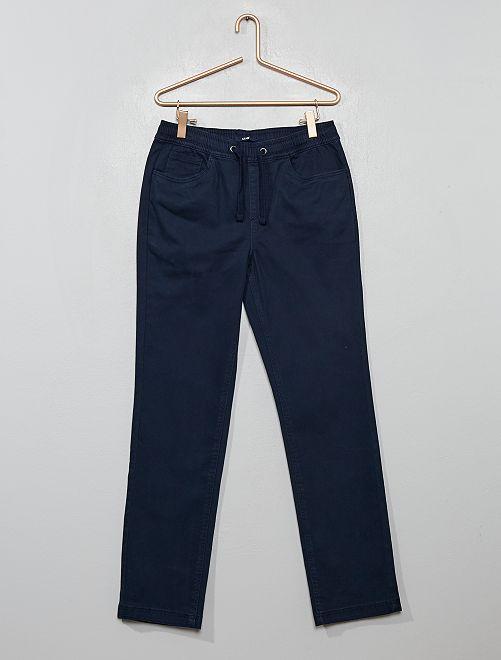 Pantaloni cotone stretch                                         blu