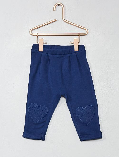 Pantaloni cuore ginocchia                                                     blu marine Neonata