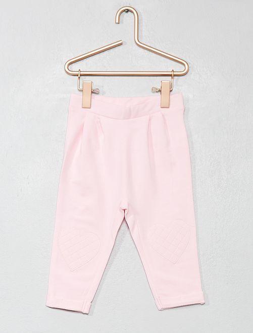Pantaloni cuore ginocchia                                                                 ROSA Neonata