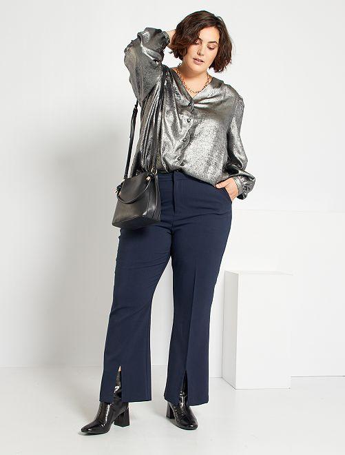 Pantaloni da completo taglio flare                                         BLU