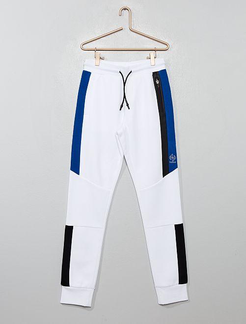 Pantaloni da tuta con strisce                                         BIANCO