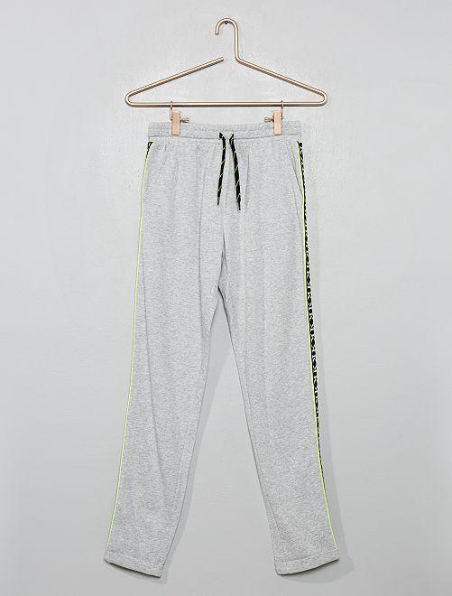 Pantaloni da tuta con strisce                             GRIGIO