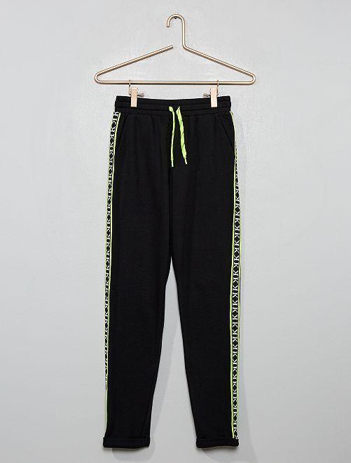 Pantaloni da tuta con strisce                                                     NERO