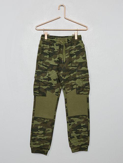 Pantaloni da tuta con tasche                                                     kaki militare
