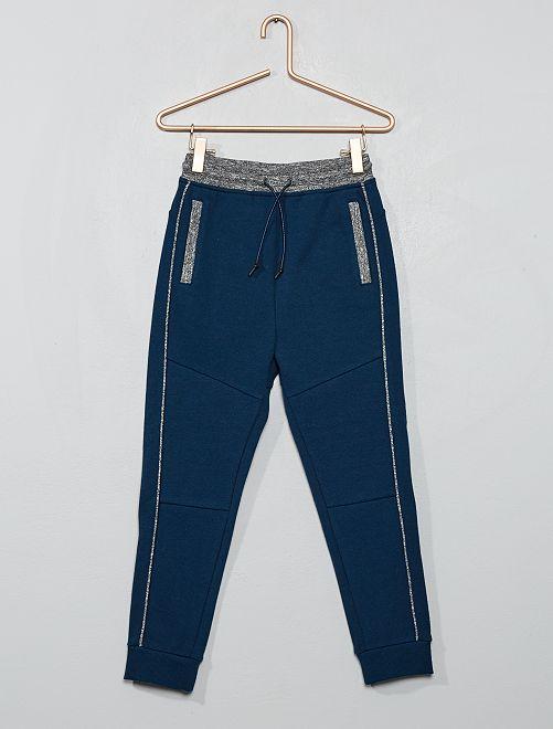 Pantaloni da tuta piqué di cotone                                                                 BLU