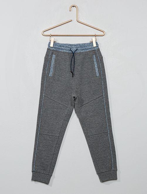 Pantaloni da tuta piqué di cotone                                                                 GRIGIO