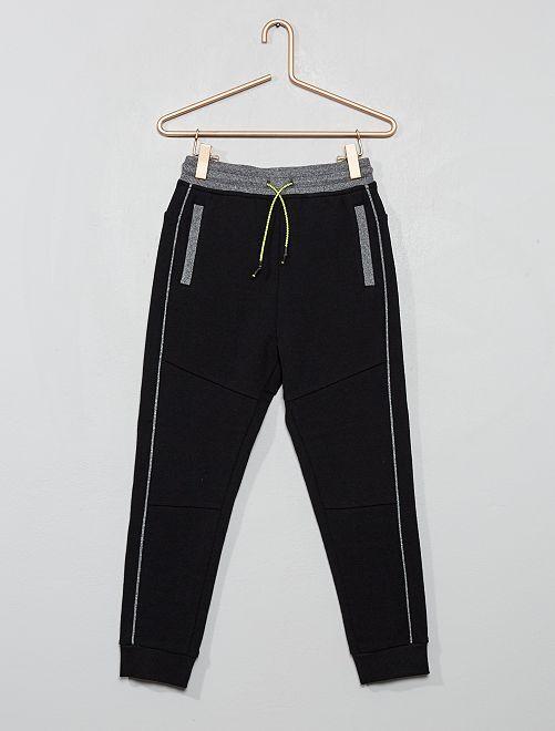 Pantaloni da tuta piqué di cotone                                                                 nero