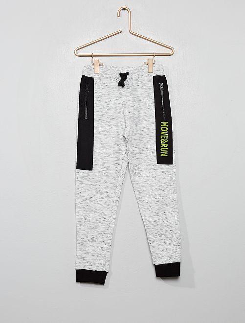 Pantaloni da tuta screziati bicolori                             GRIGIO
